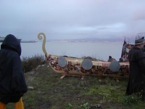Hans Viking funeral ship