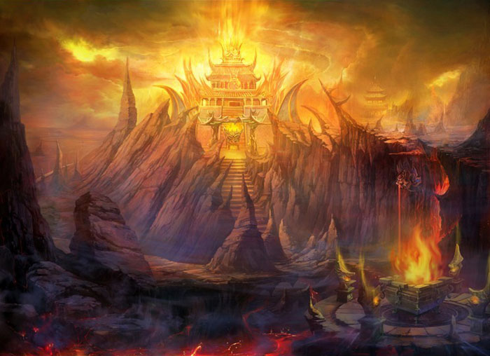 Jogo 01 - Saga de Asgard - A Ameaça Fantasma a Asgard - Página 3 Environment-illustration-temple-of-flames